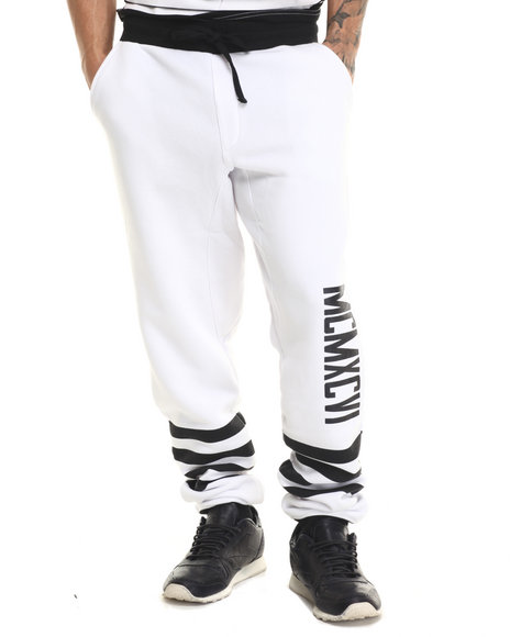Enyce - Men White Ithaka Joggers