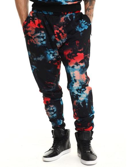 Rocawear Blak - Men Camo,Multi Mesh Jogger Pants