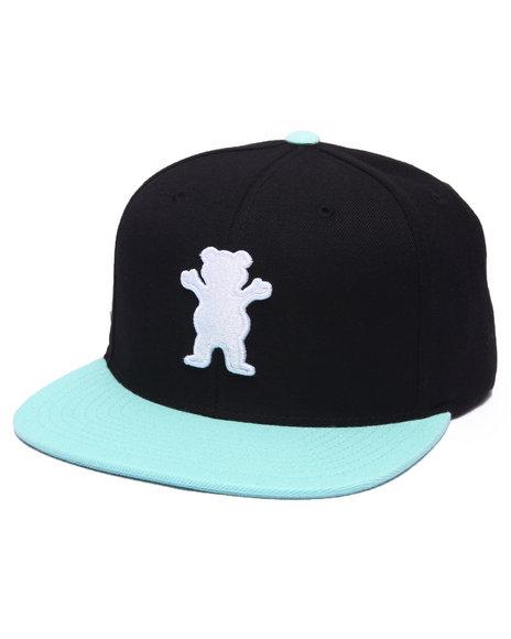 Grizzly Griptape Men Og Bear Snapback Cap Black - $40.00