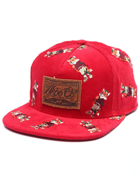 Akoo Men Husky Cap Red 1SZ