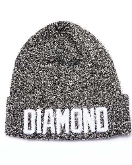 Ur-ID 223083 Diamond Supply Co - Men Black Reggie Beanie