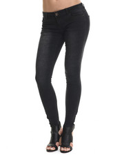 Fashion Lab - Animal Print 5-Pocket Stretch Denim w/ Ankle Zip