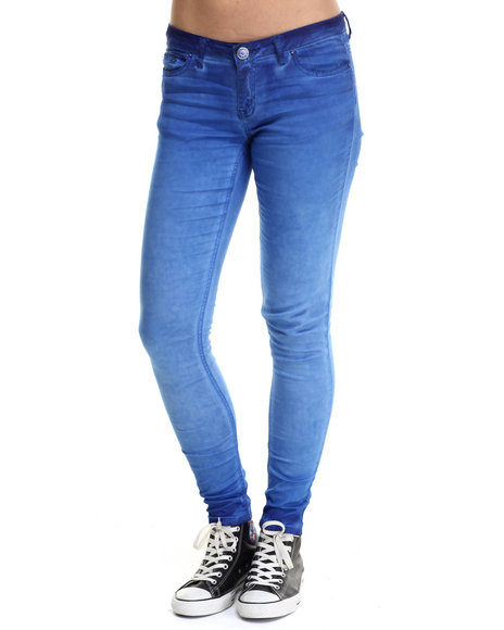 Fashion Lab - Women Blue Spray Wash Color Denim Jean