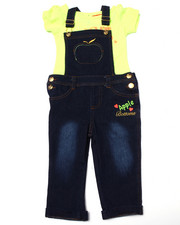 Apple Bottoms - 2PC OVERALL SET (2T-4T)