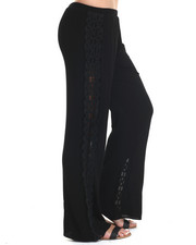 Fashion Lab - Crinkle Woven Pant W/Crochet Detail