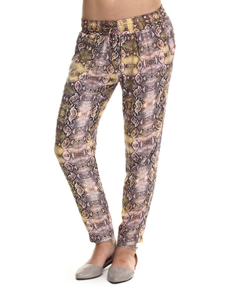 Ali & Kris - Women Animal Print Snake Print Soft Pant