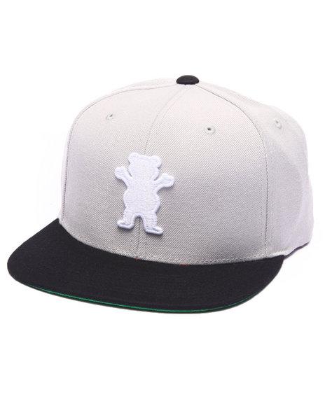 Grizzly Griptape Men Og Bear Snapback Cap Silver - $40.00