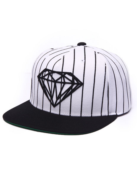 Diamond Supply Co Men Brilliant Pinstripe Snapback Cap White - $40.00