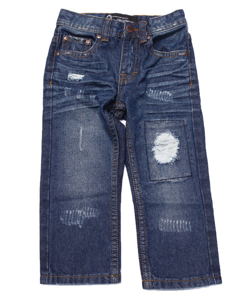 Akademiks - Boys Medium Wash Rip & Repair Jeans (2T-4T) - $12.99