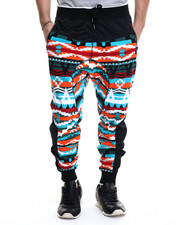 Jeans & Pants - Navajo Pattern French Terry Drop - Crotch Pants