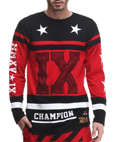 Buyers Picks - Men Red I X Cut - Block Cotton Jersey