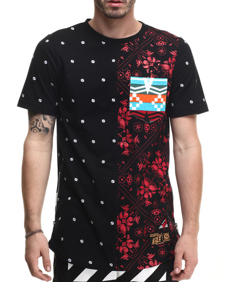 Buyers Picks - Men Black Bandana Pattern S/S Tee - $23.99