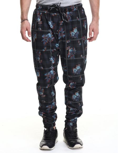 Rocawear Blak - Men Multi Mesh Jogger Pants