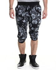 Men - Vintage Floral Print drawstring Shorts