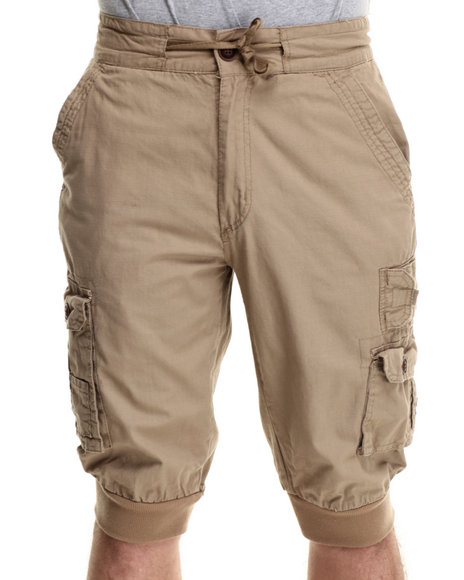 Buyers Picks - Men Khaki Ripstop Jogger Shorts
