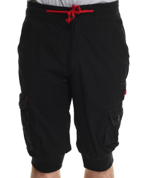 Buyers Picks - Men Black Ripstop Jogger Shorts