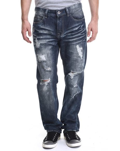 Buyers Picks - Men Dark Wash Dk Indigo Wash Denim Jeans