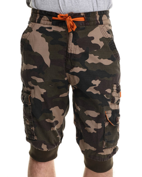 Buyers Picks - Men Camo Ripstop Jogger Shorts