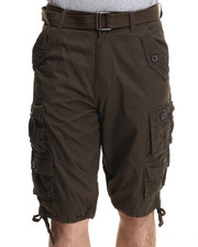 Buyers Picks - Washed Twill Belted Cargo Shorts