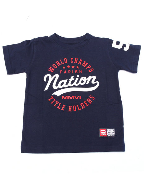 Parish - Boys Navy Nation League Tee(2T-4T)