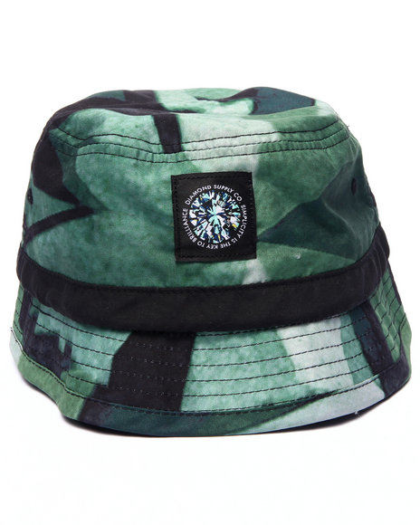 Ur-ID 215255 Diamond Supply Co - Men Green Simplicity Sublimated Bucket Hat