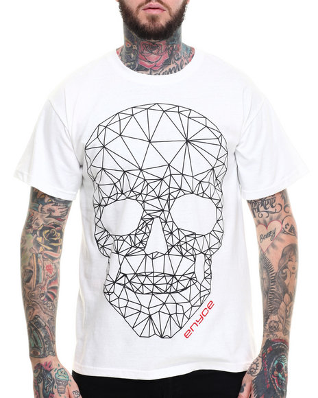 Enyce - Men White Grid T-Shirt - $10.99