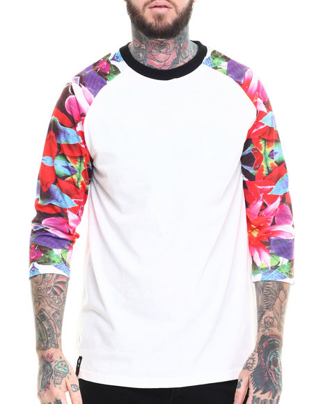 Enyce - Men White C.M.B. Raglan T-Shirt - $15.99