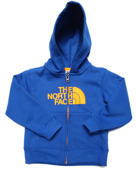 The North Face - Boys Blue Logowear Full Zip Hoodie (2T-4T)
