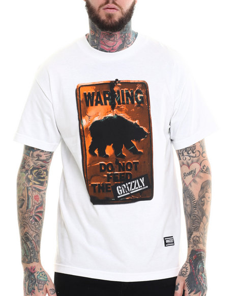 Ur-ID 215275 Grizzly Griptape - Men White Do Not Feed The Bears Tee