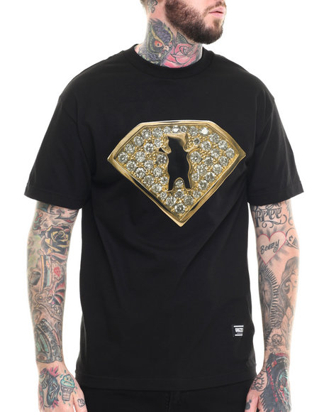 Grizzly Griptape - Men Black Team Ring Tee