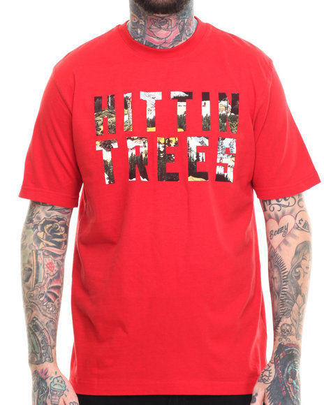 Akoo Men Hittin Trees Tee Red Medium