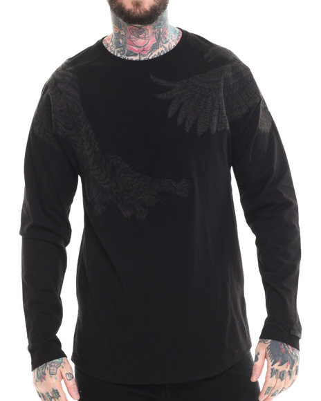 AKOO - Men Black Survival Crewneck Sweatshirt
