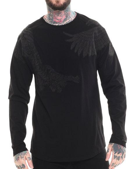 AKOO - Men Black Survival Crewneck Sweatshirt