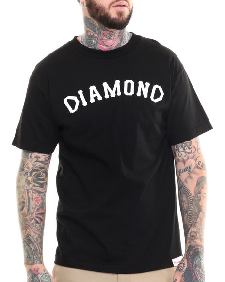 Ur-ID 215278 Diamond Supply Co - Men Black Dugout 98 Tee