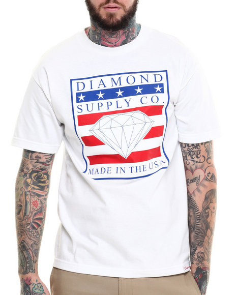 Diamond Supply Co - Men White Made In Usa Tee