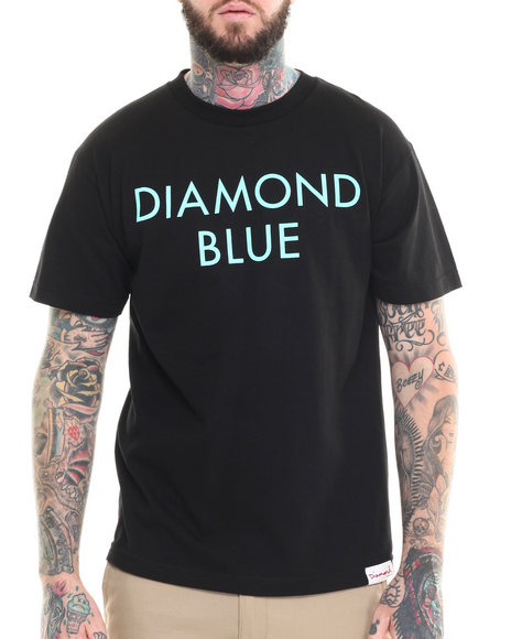 Diamond Supply Co - Men Black Diamond Blue Tee