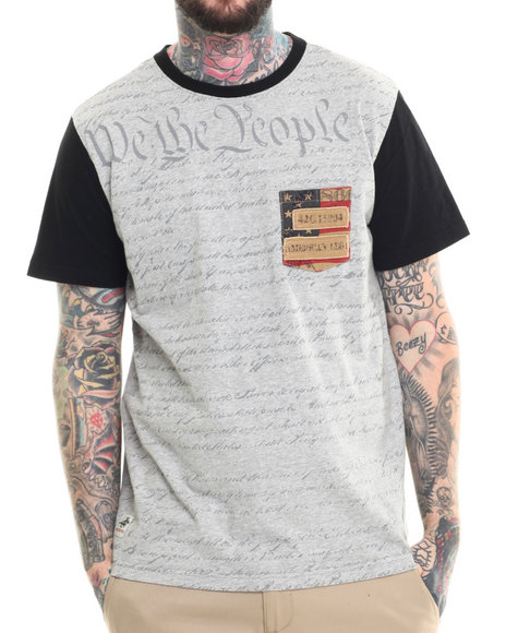 Ur-ID 215292 Winchester - Men Grey Two Tone We The People Tee