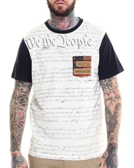 Ur-ID 215298 Winchester - Men White Two Tone We The People Tee