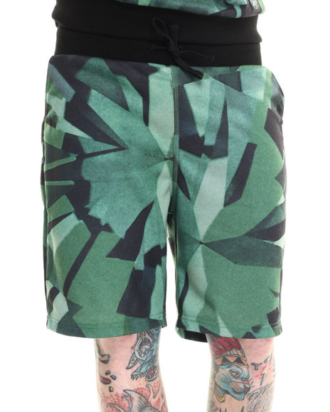 Diamond Supply Co - Men Green Simplicity Sublimated Sweatshorts