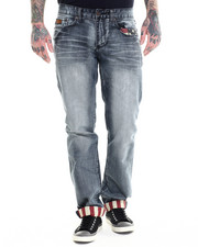 Men - Denim Jean with Back Pocket Flag Logo