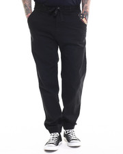 Men - Heavy Twill Jogger Pant with Enzyme Wash and Flag Accent