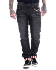 Jeans & Pants - Denim Jean with Back Pocket Flag Logo