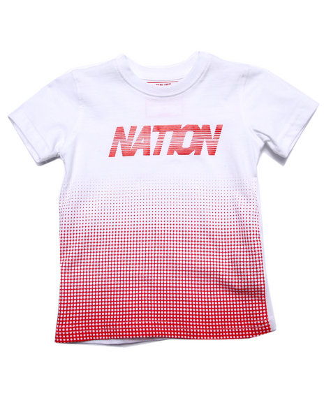 Parish - Boys White Half Tone Parish Tee (2T-4T) - $6.99
