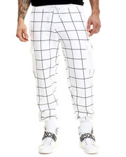 Sweatpants - Grid Art Cargo Sweatpants