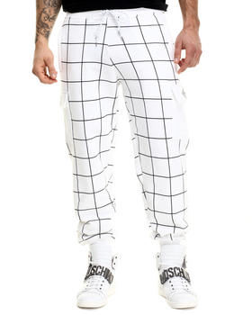 Men - Grid Art Cargo Sweatpants
