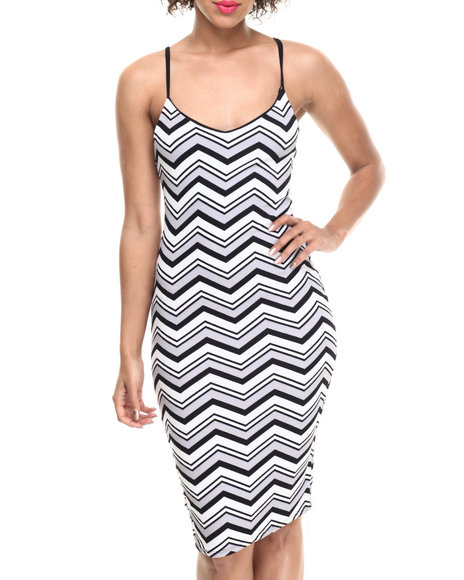 Ali & Kris - Women Black,Grey Textured Chevron Knit Slip Dress - $10.99