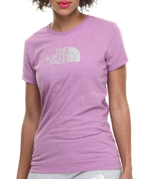 The North Face - Women Grey,Purple Short Sleeve Half Dome Tee