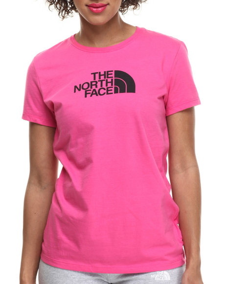 Ur-ID 215344 The North Face - Women Black,Pink Short Sleeve Half Dome Tee