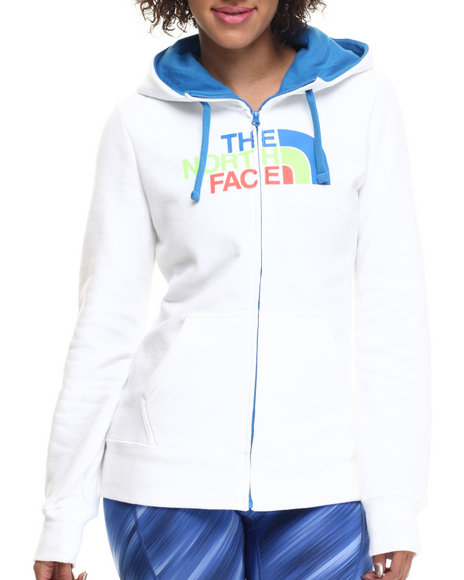 The North Face - Women Blue,White Half Dome Full Zip Hoodie