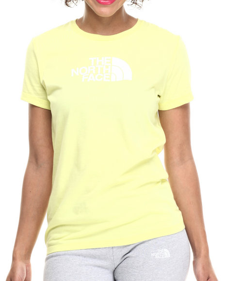 The North Face - Women White,Yellow Short Sleeve Half Dome Tee